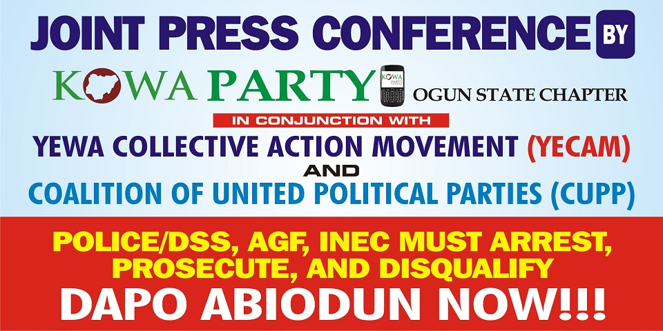, Groups Call For Arrest Of Ogun APC Guber Candidate, Dapo Abiodun, Accuse Him Of Forgery, Skipping NYSC, Nightwatchng